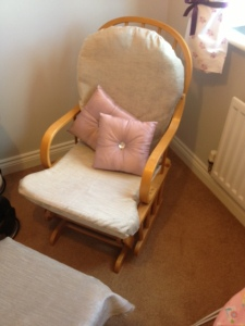 Chair with seat back and cushions