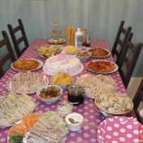 And our tea party spread!