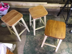 Stools after sanding