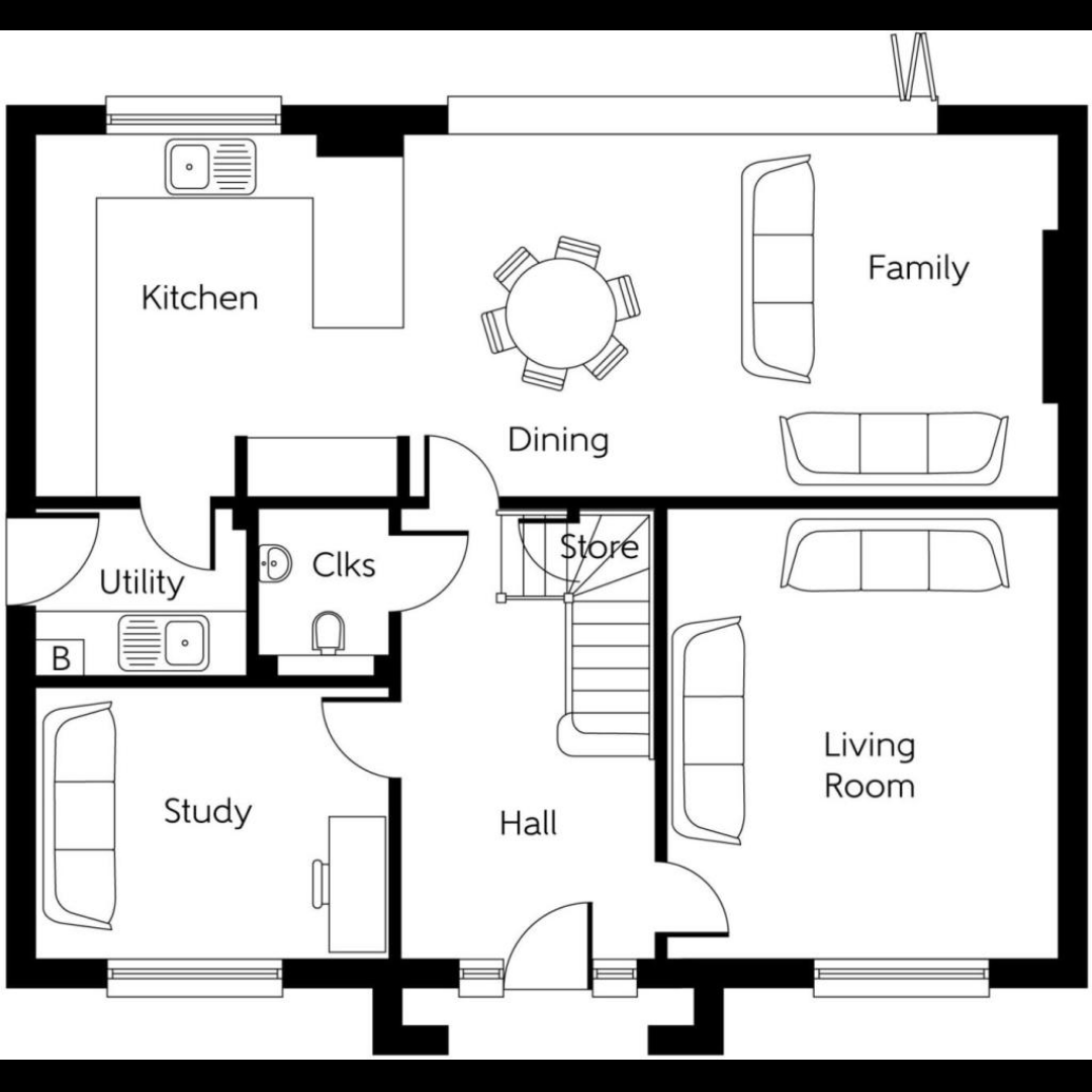 Floorplan of the downstairs of our new house